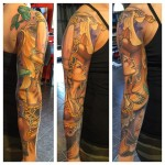 Belly Dancer Tattoo Sleeve