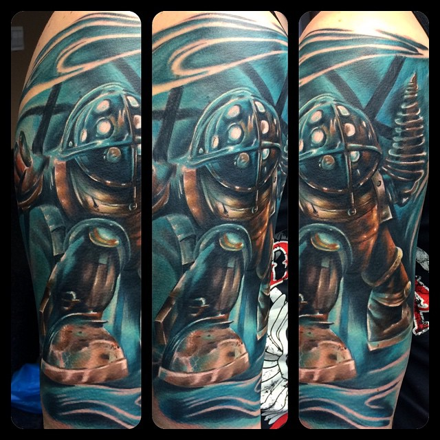 Big Daddy Bioshock tattoo
