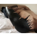 Black Arrows Tribal tattoo sleeve