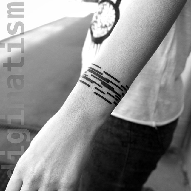 Black Lines Wrist tattoo