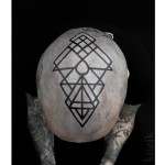 Blackwork Geometry Head Tattoo
