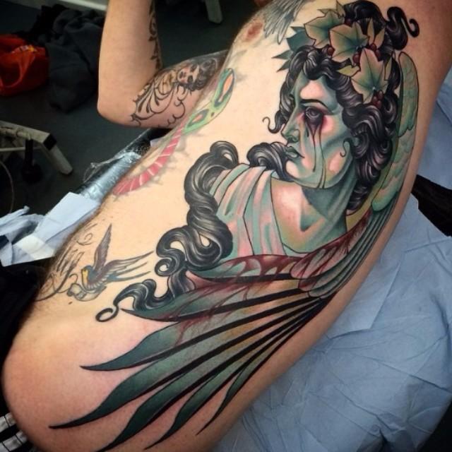 Bloody Eyes Angel Body tattoo