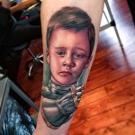 Child Knight tattoo on Arm