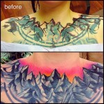 Collar Mountans Cover Up tattoo