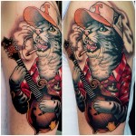 Country Cat tattoo