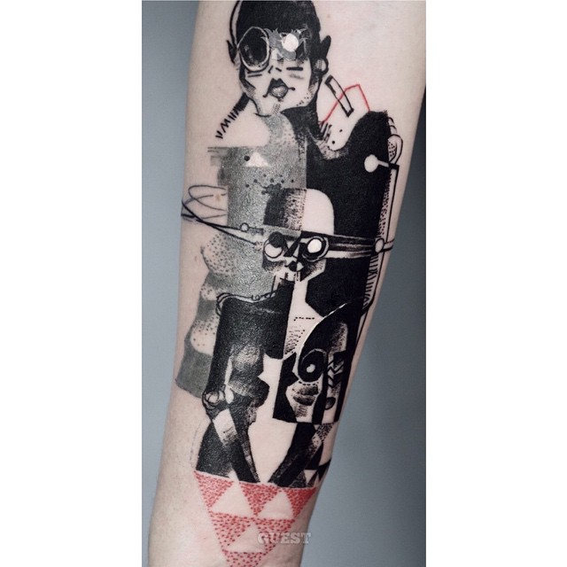 Cubism Arm tattoo