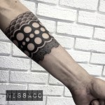 Dotwork Arm Brace tattoo