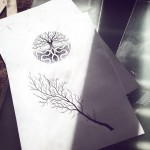 Dotwork Nature Growth Tattoo idea