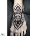 Dotwork tattoo on Foot