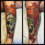 Dragon Grasp Skull tattoo