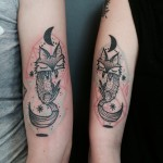 Dual Fox Love Couple tattoo
