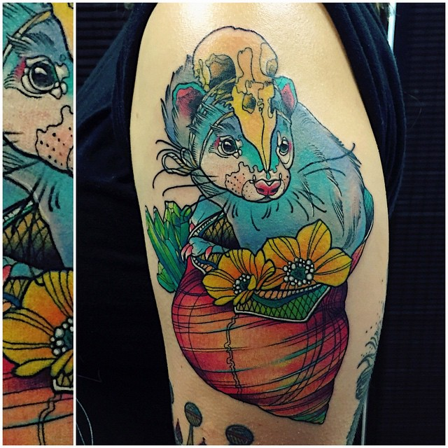 Ferret in Shell tattoo
