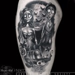 Graphic Corpse Bride Shoulder tattoo