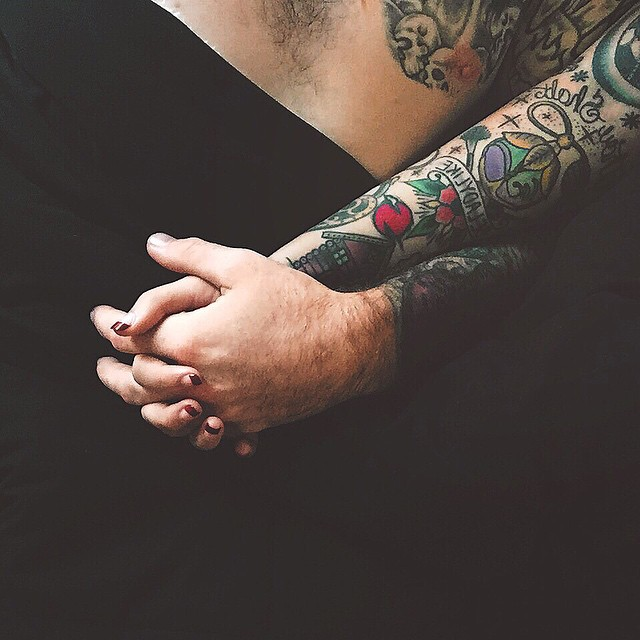 Hand In Hand Couple tattoos