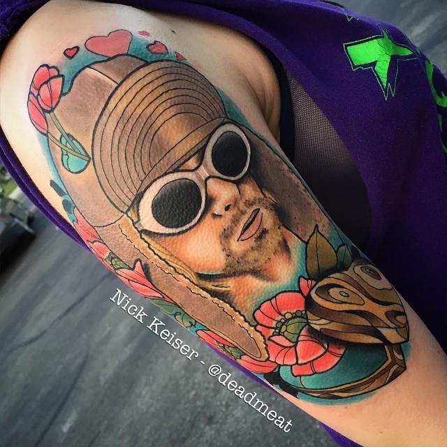 Heart Shaped Box Kurt Cobain tattoo