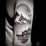 Landscape Mountain Lake tattoo