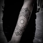 Line Devided Mandala Arm tattoo