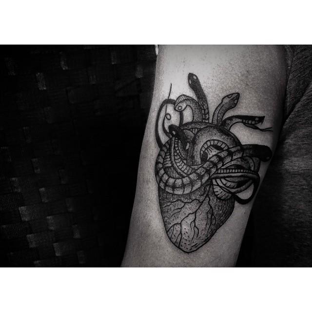 Little Snakes Poisoned Heart tattoo