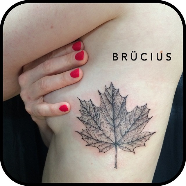 Maple Leaf Body tattoo
