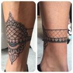 Mehendi Leg Brace tattoo