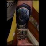 Mirror Ball Unknown World tattoo
