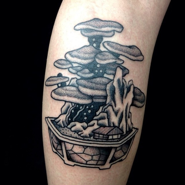 Mushrom Bonsai tattoo