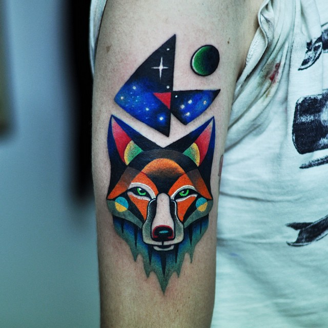 Night Fox Arm tattoo