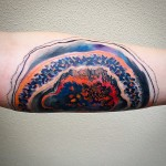 Oil Paint Layers Watercolor tattoo