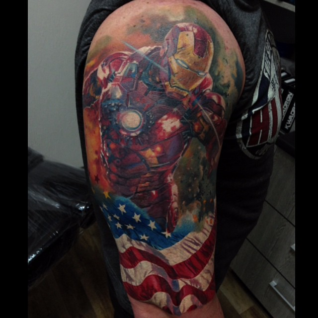 Patriot Iron Man tattoo