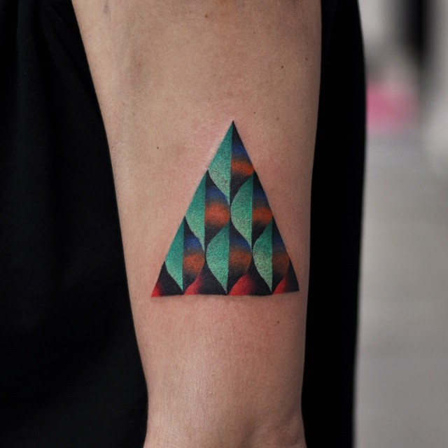 Patterned Triangle Small tattoo