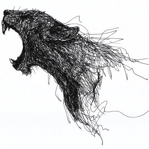 Pen Lines Panther tattoo idea
