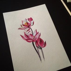 Pink Flowers tattoo idea