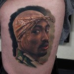 Portrait Tupac Tattoo