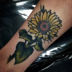 Pretty Sunflower tattoo on Arm