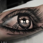 Really Detailed Eye tattoo on Arm