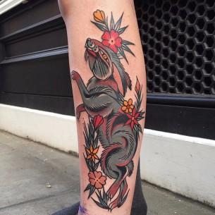Red Bloody Hare tattoo