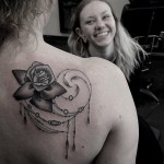 Rose Graphic Baroque tattoo