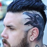 Screaming Raven Head tattoo