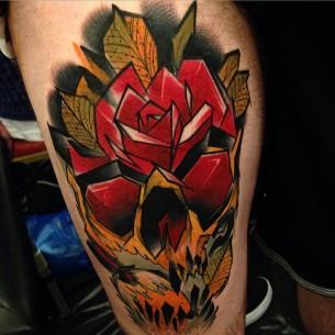 Sharp Edges Rose Skull