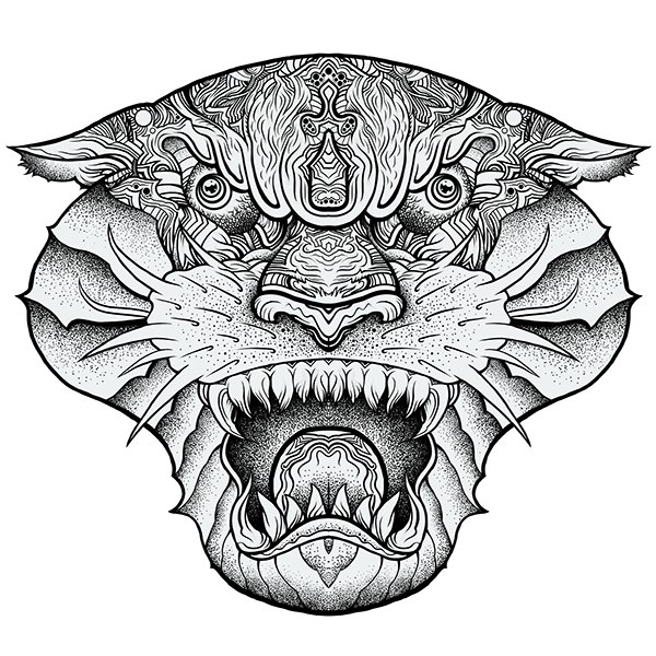 Sharp Fangs Panther tattoo idea