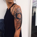 Shoulder Abstract Girl tattoo