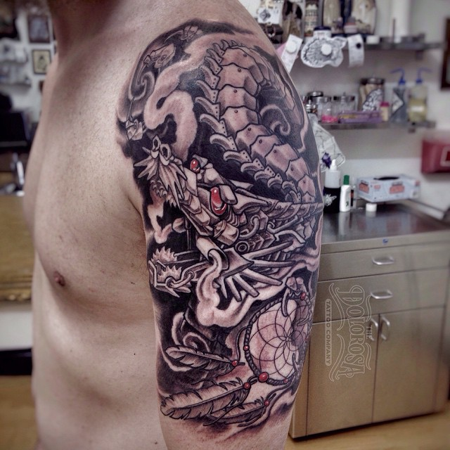 Shoulder Metal Dragon tattoo