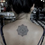 Soft Mandala Back tattoo