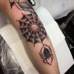 Spider Web Arm tattoo