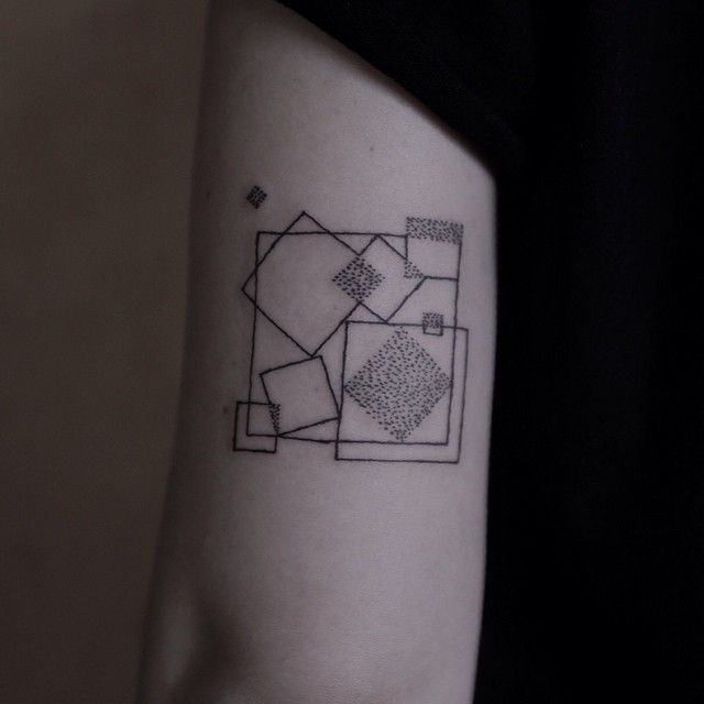 Squares Geometry tattoo