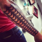 Tattoo Sleeve Lines and Triangles