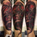Tentaskull Leg tattoo