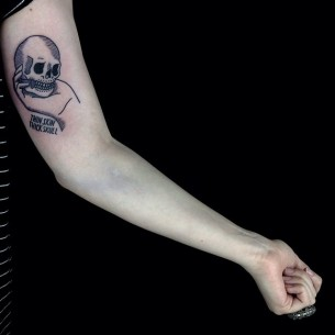 Thin Skin Thick Skull on Arm