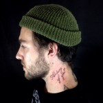 Thinking of You Lettering tattoo on Neck