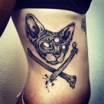 Third Eye Sphynx Cat tattoo